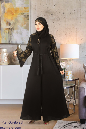Picture of Abaya silk embroidered