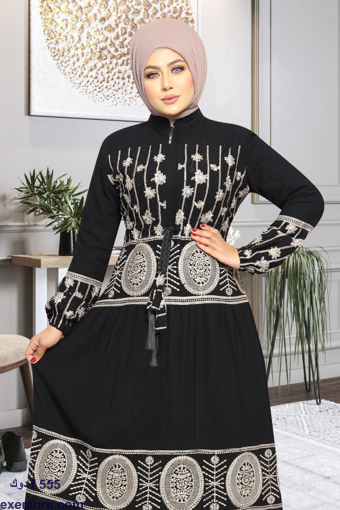 Picture of Abaya distress embroidery