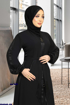 Picture of Abaya with a belt on the waist