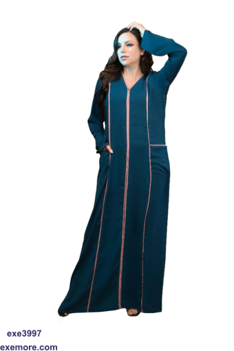 Picture of striped abaya
