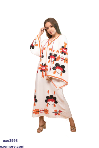 Picture of abaya with flowers