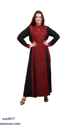 Picture of red abaya