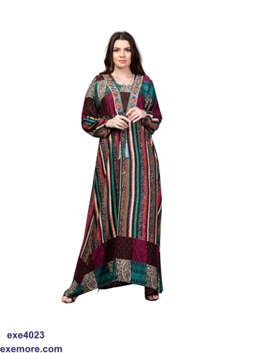 Picture of multi colors abaya