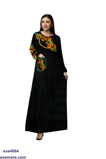 Picture of abaya with pocket