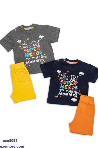 Wholesale  summer half sleeve baby pajama