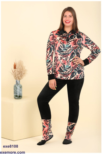 Wholesale  multi colors velvet long sleeve pajama
