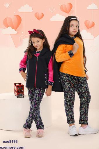 Wholesale  three pieces winter girly pajamas for home