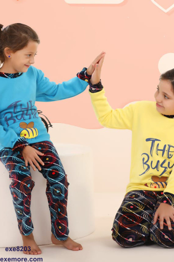 Wholesale  little girly winter pajamas for home