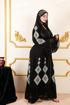 مناي عباية حريرطويلة جودة عالية للسيدة العربية جملة