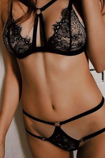 Wholesale  black lycra dantel lingerie set