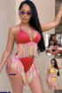 Wholesale  bikin lingerie set for girls with tassels