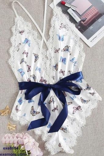 Wholesale  Butterfly lingerie jumpsuit