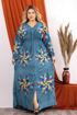 Wholesale  Abaya with a lotus drawing