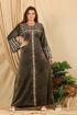 Wholesale  check print velvet abaya