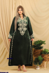 Wholesale  Embroidered velvet abaya with scarf