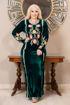 Wholesale  floral velvet abaya
