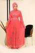 Wholesale  Wide sleeve chiffon abaya