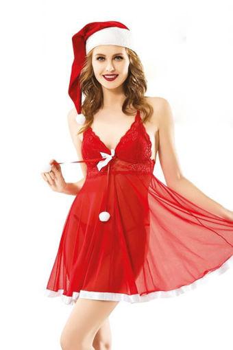 Wholesale  Christmas red unique lingerie